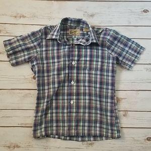 Vintage Perma Prest Sears Plaid Button Up Shirt